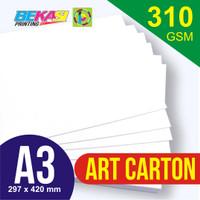 Kertas Art Carton 310 GSM ukuran A3 29,7 x 42 cm