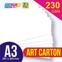 Kertas Art Carton 230 GSM ukuran A3 29,7 x 42 cm
