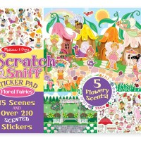 Melissa & Doug Scratch and Sniff Sticker Pad - Floral Fairies