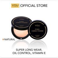 Y.O.U - Studio Compact Powder - Bedak Padat 02 NATURAL ( 810402 )