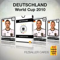 Kartu Bola Fezballer Cards edisi timnas GERMANY World Cup 2010