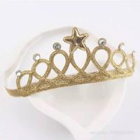 Bandana Elastis Mahkota / Crown Headbands - A Emas