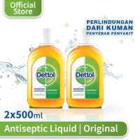 Dettol Antiseptic Cair - Botol 500 ml x 2 pcs