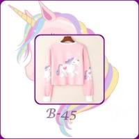 9c956715707cb4 Sweater Unicorn / Atasan wanita / Sweater Hoodie/ Sweater crop Top