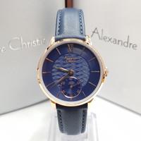 JAM TANGAN WANITA ALEXANDRE CHRISTIE 2682 ROSE GOLD BLUE ORIGINAL