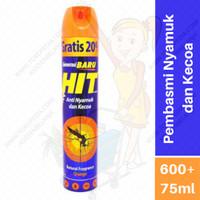 HIT Anti Nyamuk dan Kecoa Orange 600+75ml Pembasmi Pembunuh Serangga