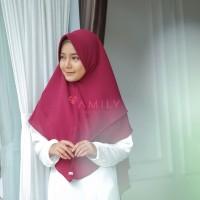Khimar Hanna Standar BURGUNDY Amily Hijab Bahan Soft Georgette