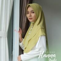 Khimar Hanna Standar SOFT LIME Amily Hijab Bahan Soft Georgette