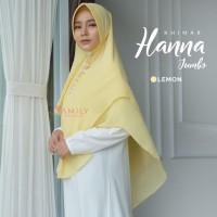 Khimar Hanna Jumbo LEMON Amily Hijab Bahan Soft Georgette