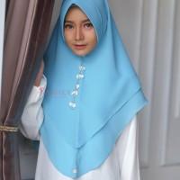 Khimar Hanna Standar SKY BLUE Amily Hijab Bahan Soft Georgette