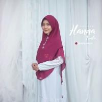 Khimar Hanna Jumbo BURGUNDY Amily Hijab Bahan Soft Georgette