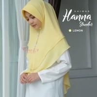 Khimar Hanna Standar LEMON Amily Hijab Bahan Soft Georgette