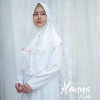 Khimar Hanna Standar BROKEN WHITE Amily Hijab Bahan Soft Georgette