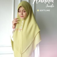 Khimar Hanna Jumbo SOFT LIME Amily Hijab Bahan Soft Georgette