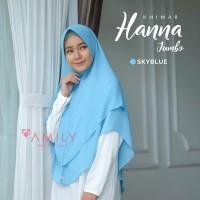 Khimar Hanna Jumbo SKY BLUE Amily Hijab Bahan Soft Georgette