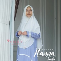 Khimar Hanna Jumbo BROKEN WHITE Amily Hijab Bahan Soft Georgette