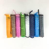 Payung lipat 3 transparan kaca / bening / warna / cantik - 3301