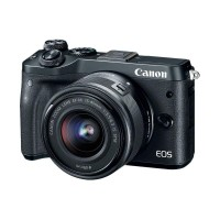 Kamera MIRRORLESS CANON EOS M6 M 6 KIT 15-45mm IS STM Camera Abu Muda