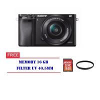 Kamera Sony Alpha A6000 Kit 16-50mm Camera Free memori 16 GB Filter