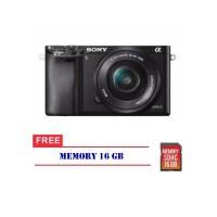 Kamera Sony Alpha A6000 Kit 16-50mm Camera Free Memori 16 Gb Promo