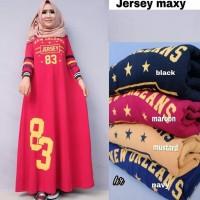 Gamis Muslim Baju Muslim Wanita Gamis Syari Pesta Mewah Jaguar Jersey