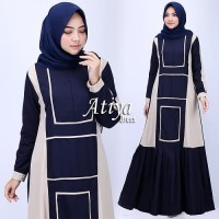 Gamis Syarii Pakaian Wanita Muslimah Hasanah Atiya Dress Mat Tory Burc