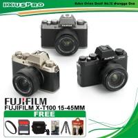 FUJIFILM X-T100 KIT 15-45MM - FUJI XT100 - XT 100 PAKET BONUS ACC