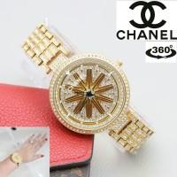 Jam Tangan Wanita CHANEL's CH3011 FULL DIAMOND PLAT MUTER - FULL HITAM