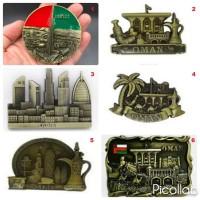 Souvenir Magnet Tempelan Kulkas Negara Asia Arab Qatar Dubai Oman UEA