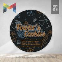 Cetak Sticker Stiker Label Toples Kue Kering, Vinyl 5 cm - PDLS2018