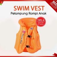 Swim Vest(STEP A)/ Rompi pelampung renang anak dan dewasa