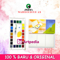 Maries Solid Watercolor set 24 -pocket box- Maries watercolour solid