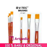 Kuas V-Tec Brush 807 set 3 / Kuas Lukis Set 3 / Kuas Vtec