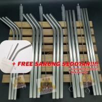 Sedotan Stainless Korea Food Grade + FREE Sikat (Lurus / Bengkok)