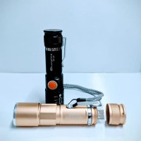 Senter swat Usb led T6 flashlight zoom