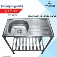 Kitchen Sink  - Bak Cuci Piring Kaki Meja Rak Portable Welden 91PK