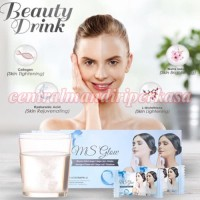 Suplemen pemutih Wajah Badan Awet Muda gluta beauty drink ms glow