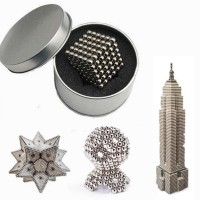 216Pcs 5mm Sliver DIY Neo Cube Magic Beads Magnetic Balls Puzzle With