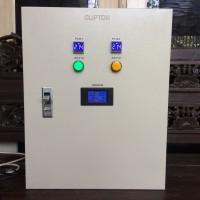 Panel Kontrol ATS PLN Inverter 63 A dengan Volt & Watt Meter