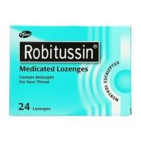 Robitussin Sore Throat Medicated Lozenges Permen Batuk Tenggorokan
