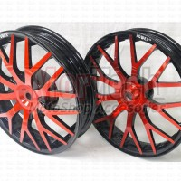Velg Pelek Racing Motor Power Evolution Ring 14 yamaha LEXI 125 Merah