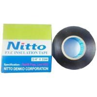 Isolasi Listrik Nitto / Lakban Hitam Kabel Elektronik PVC Tape 25meter