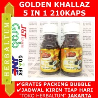 Habbatus Sauda 5 in 1 Golden Khallaz 210 Kapsul