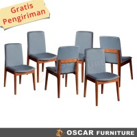 Oscar Furniture - Kursi Makan Genoa 6 Buah - Kain Fabric