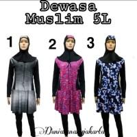 Baju Renang Rok Wanita Dewasa Muslim Ukuran Besar Jumbo