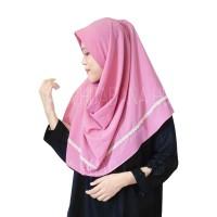 Hijab Pashmina Instan Maula Renda 1 Lubang Jilbab Khimar Kerudung