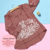 Atasan premium | hawa flower maroon | baju wanita murah | baju diskon