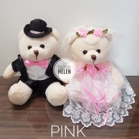 Boneka Teddy Pengantin Wedding/Boneka Couple/Beruang Pasangan 20cm