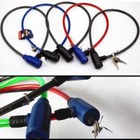 Kunci Gembok Ban Sepeda Motor Murah Bicycle Lock Key Chain safety Grab