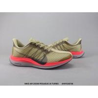 PQ571 Sepatu Lari Desain Nike Air Zoom Pegasus 35 dengan Warna Kuning